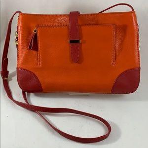 Tory Burch clay crossbody purse orange pink